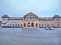 Karachi's Cantonment railway station is one of the city's primary transport hubs.