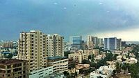 Much of Karachi's skyline is decentralized, with some growth in traditionally suburban areas.