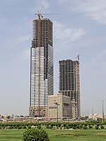 At a height of {{convert|300|m|ft}}, Bahria Icon Tower is the tallest skyscraper in Pakistan and second tallest in South Asia.