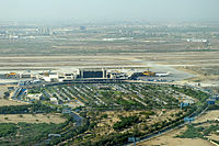 Karachi's Jinnah International Airport is the busiest and second largest airport in Pakistan.