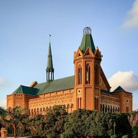 Some of Karachi's most recognized structures, such as Frere Hall, date from the British Raj.