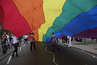 Marchers at Pride London, host of WorldPride 2012