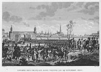 The French entering Vienna on 13 November 1805