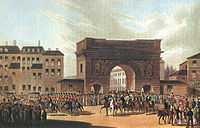 The Russian Army entering Paris in 1814