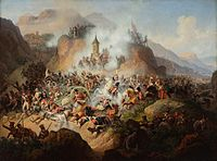 Polish cavalry at the Battle of Somosierra in Spain, 1808