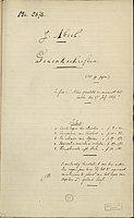 """Fragment from the manuscript """"Memoires on Napoleon's campaigns, experienced as a soldier of the second regiment"""". Written by Joseph Abbeel, a soldier participating in the War of the Sixth Coalition, 1805–1815."""