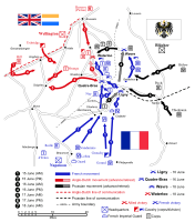 Map of the Waterloo campaign
