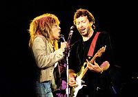 Turner on tour with special guest Eric Clapton, June 17, 1987, in Wembley Arena, England