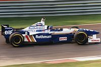 Villeneuve driving for the Williams Formula One team at the 1996 Canadian Grand Prix.