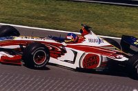Villeneuve driving for BAR in the team's first season, at the 1999 Canadian Grand Prix.