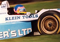 Villeneuve racing in the 1995 PPG IndyCar World Series at Mid-Ohio Sports Car Course