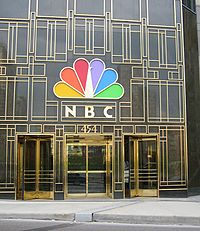 The front entrance of the NBC Tower at 454 N. Columbus Drive in Chicago.