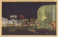 Radio City West was located at Sunset Boulevard and Vine Street in Los Angeles until it was replaced by a bank in the mid-1960s.