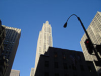 30 Rockefeller Center, also known as the GE Building, is the world headquarters of NBC.