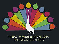 Title card used by NBC in the 1950s, promoting their color broadcasts on NBC.