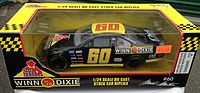 A diecast model of Mark Martin's No. 60 Busch car from the 1990s.