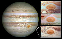 Great Red Spot is decreasing in size (May 15, 2014).