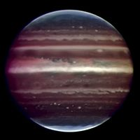 Infrared image of Jupiter taken by ESO's Very Large Telescope