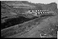 Coal company houses in Jenkins, Kentucky, photographed by Ben Shahn in 1935