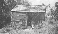 A 1930s-era TVA photograph showing a young girl in front of her family's house in the lower Clinch River valley in East Tennessee