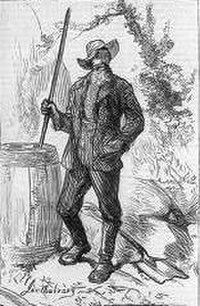 """""""The Moonshine Man of Kentucky"""", an 1877 illustration from Harper's Weekly"""