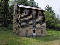 The Earnest Fort-house in Greene County, Tennessee. Built around 1782 during the Cherokee–American wars, it is located just south of Chuckey on the banks of the Nolichucky River.