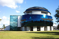 The now-defunct IMAX dome theatre at the Museum of Science and Industry in Tampa, Florida