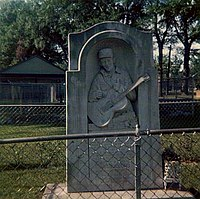 Jimmie Rodgers monument in Meridian, Mississippi
