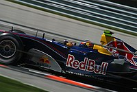 Speed as Red Bull's third driver at the 2005 United States Grand Prix