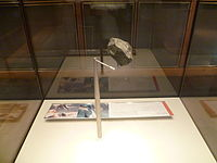 Stone chopping tool from Olduvai Gorge.