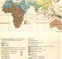 Ethnographic map of Africa, from Meyers Blitz-Lexikon (1932).