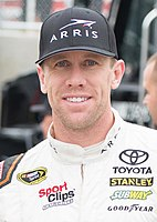 Carl Edwards won the race from the pole position.