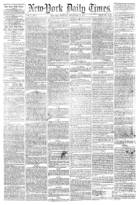 First published issue of New-York Daily Times, on September 18, 1851