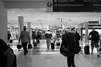 Concourse B at Hartsfield-Jackson Atlanta International Airport, the world's busiest airport
