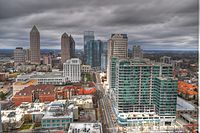 A section of Peachtree Street in Midtown Atlanta