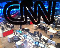 The CNN newsroom