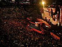 Etheridge performs during the third night of the 2008 Democratic National Convention in Denver, Colorado.