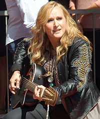 Etheridge performing at a September 2011 ceremony where she received a star on the Hollywood Walk of Fame