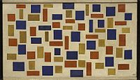 Theo van Doesburg, 1918, Composition XI, oil on canvas, 57 x 101 cm