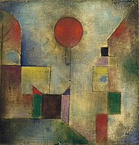 Paul Klee, 1922, Red Balloon (Roter Ballon) oil on chalk-primed gauze, mounted on board, 31.7 × 31.1 cm