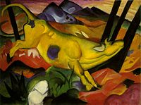 Franz Marc, 1911, The Yellow Cow, oil on canvas, 140.5 x 189.2 cm