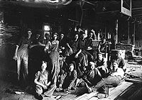 Child laborers in an Indianapolis furniture factory, 1908