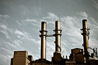 Perry K. Generating Station produces steam for the city's district heating system.