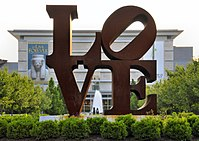 Robert Indiana's iconic LOVE at the Indianapolis Museum of Art