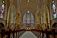 Interior of St. Mary Catholic Church, part of the Roman Catholic Archdiocese of Indianapolis