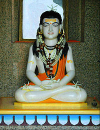 A sculpture of Gorakshanath, a celebrated 11th century yogi of Nath tradition and a major proponent of Hatha yoga