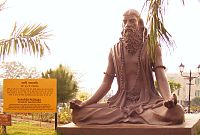 A statue of Patañjali, the author of the core text Yoga Sutras of Patanjali, meditating in Padmasana.