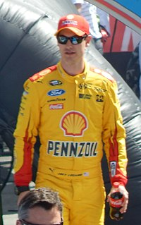 Joey Logano scored the pole for the race.