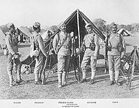 39th Garhwal Rifles in a camp.