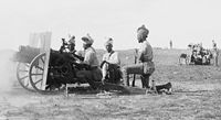Indian Army gunners (probably 39th Battery) with QF 3.7-inch mountain howitzers, Jerusalem 1917.
